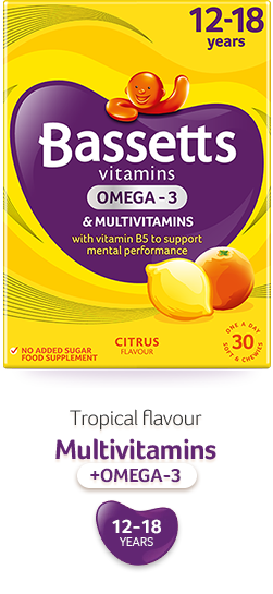 Citrus flavour multivitamins with Omega3