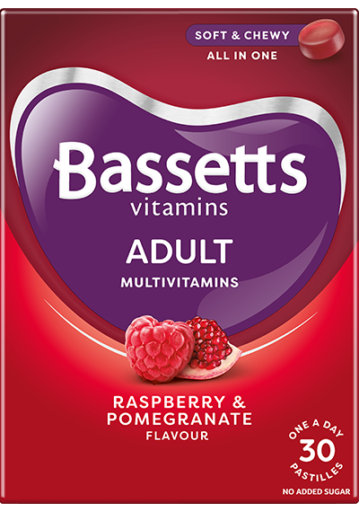 Raspberry and Pomegranate flavour Multivitamins