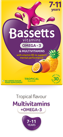 Tropical flavour Multivitamins with Omega3
